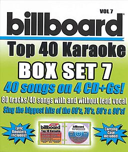 BILLBOARD TOP 40 KARAOKE BOX SET 7
