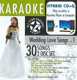 All Star Karaoke: Wedding Love Songs, Vol. 1